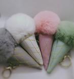 アイスクリームチャーム♡♡ファーチャーム パステルカラー キーホルダー