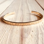 Message bangle   Brass