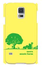 sacra music farm スマホケース(Galaxy S5 SC-04F/SCL23:イエロー)