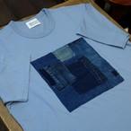 KUON(クオン) スクエア襤褸 半袖Tシャツ ブルー