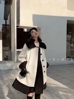 ココキルティングベストコートセット コート アウター 韓国ファッション