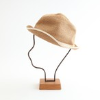 mature ha./BOXED HAT 103SW mixbrown×white