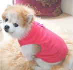 大きなサイズ 無地でシンプルデザインのフリーストップス XXL 3XL 犬の服 猫の服 秋冬 ペット服