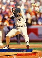 MLBカード 93FLEER Pete Harnisch #042 ASTROS