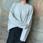 【tops】丸ネックゆるっと感じカジュアル3色レディースセーター 23161812