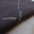 正絹絽 深い墨色に絞りの帯揚げ