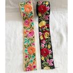 インド刺繍リボン フラワーカラフル刺繍-3 (1m)