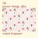 sweet vintage alice デザインペーパー  5枚入り