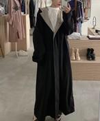 USA vintage bi-color hoodie spring coat