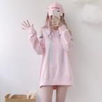 【dress】ガーリー系フード付き切り替えしカジュアルワンピース17243596