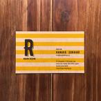 名刺「クラフトに黄色いボーダー」