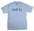 QUARTERSNACKS SNACKS VARSITY TEE Heather grey L