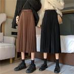 【送料無料】全2色♡プリーツロングスカート♡