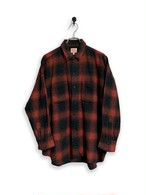 Onbray check flannel shirt / red