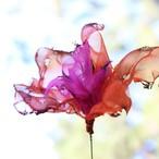 炎の花|カラフルオーガンジーのアートフラワー【造花】