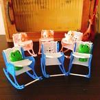昭和レトロ  プラスチック製 おもちゃのイス ピンクとブルーのセット