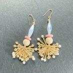 ROSARY Beads Tassel ピアス - white/pink/natural- 【イヤリング変更可】