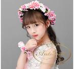 子供 キッズ 髪飾り ヘッドドレス 花 可愛い きれい 発表会 演奏会 誕生日会 ヘッドアクセサリー
