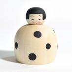 豆大福ちゃんこけし 約1.5寸 約4.3cm 鈴木明 工人(作並系)#0140