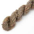 シルクメリノ薄茶ツイード オーダー用サンプル糸(silk_M3)手紡ぎ毛糸オーダー(送料込)