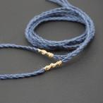 ヘンプ紐 三つ編み 薄藍色