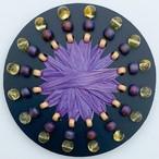 [Φ40]ヘアゴム(139)ブラック×紫色