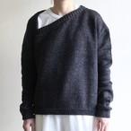 JUN MIKAMI【 womens 】triangle neck pullover