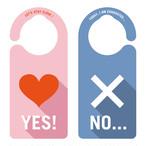 【新形状】YES NO ドアプレート[1149] 【全国送料無料】 ドアノブ メッセージプレート
