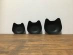 手作り猫皿の三点セット
