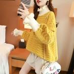 【tops】スウィート配色フェアリー注目されるセーター24814024
