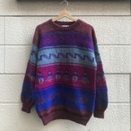 """Hand Made in Bolivia FOR THE LODGE"" Hand Knit Wool Sweater"