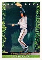 MLBカード 93UPPERDECK Cory Snyder #218 GIANTS