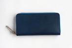 ◆シュリンクレザー(栃木レザー)_ブルー◆外装◆おとな財布◆ラウンドジップ