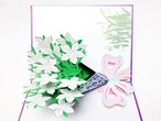フラワーブーケ (ガーデニアの花束)