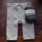 ☆脚とお腹を包む絹と綿パイル4分丈インナーパンツ