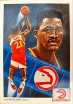 NBAカード 91-92UPPERDECK CHECKLIST #79 HAWKS