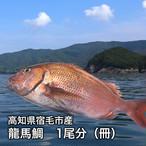 【高知県宿毛市産】龍馬鯛(タイ)※なくなり次第終了 1尾分 冊(約450g)