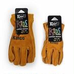 Kinco glove kids キンコ グローブ キッズ  3〜6歳用 50c 7〜12歳用 50y 子供用 手の小さい 女性用 SS レザー グローブ 作業 手袋 おそろい 牛 革