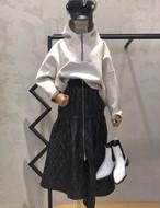 ジッパーフードトレーナー フードトレーナー フーディー 韓国ファッション