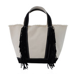 Side Fringe Tote Bag/BLK