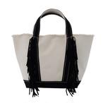Side Fringe Tote Bag/BLK