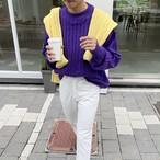 予約注文商品 ポールニット ★UNISEX ニット セーター 韓国ファッション