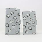 手帳型スマートフォンケース(シマエナガいっぱい)