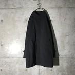 [used] black balmacaan coat