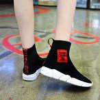 【shoes】ファッションアルファベット配色ブーツ22696031