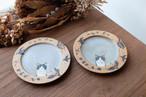 Acne pottery studio 動物の絵皿(ねこ)