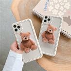 グリップ付き Bear iphone case