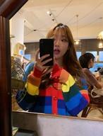 レインボーカーディガン ニットカーディガン カーディガン 韓国ファッション
