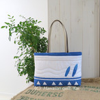 サンディ-ビ-チのサ-フボ-ド ハワイアンキルトで作るシンプルなバッグ Kaiオリジナルキット