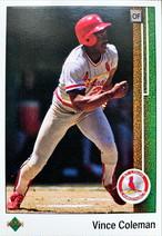MLBカード 89UPPERDECK Vince Coleman #253 CARDINALS